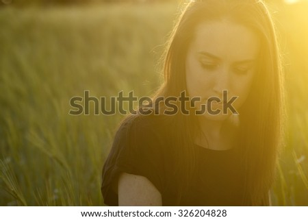 Sad woman  - stock photo