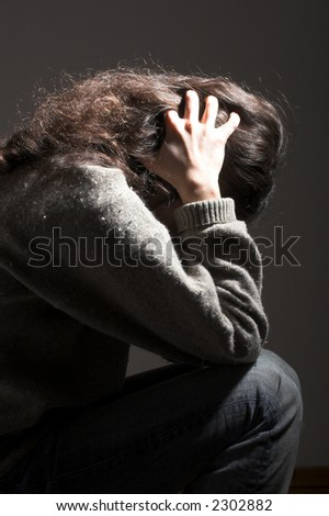 sadness and depression - stock photo
