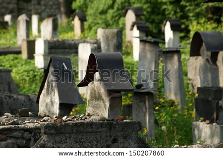 Sadness - Oldest cemetery in  Krakow                                - stock photo
