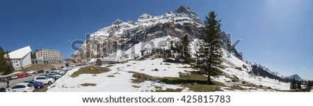 saentis mountain switzerland high definition panorama