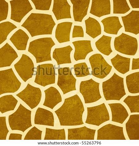 Safari Giraffe Pattern Grungy Background - stock photo