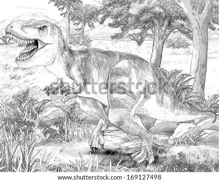 Safari - koba lychee - coloring page - illustration for the children - stock photo
