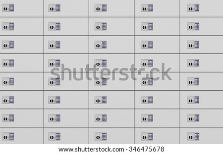 Safe Deposit Boxes With Combination Lock - stock photo