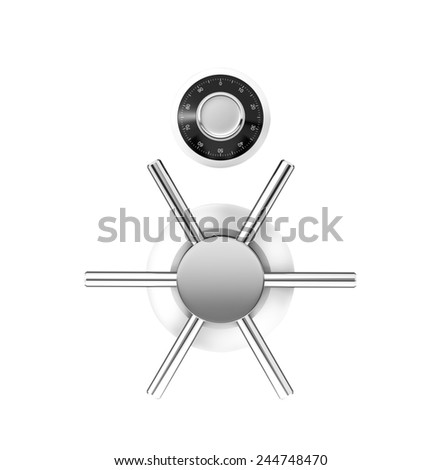 Safe dial lock - stock photo