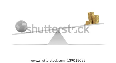 Safe the Earth concept - stock photo