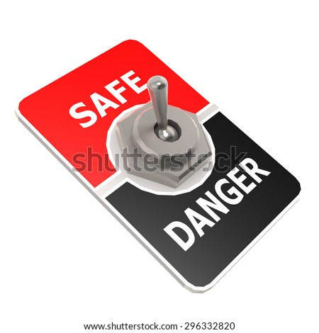 Safe toggle switch image with hi-res rendered artwork that could be used for any graphic design.