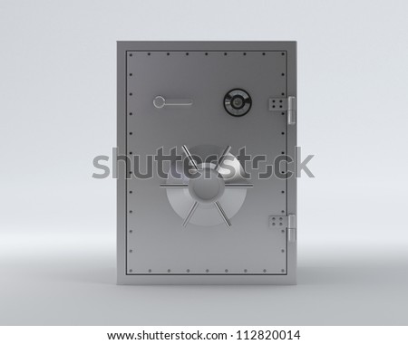 Safe with clipping path - Isolated on Background - stock photo
