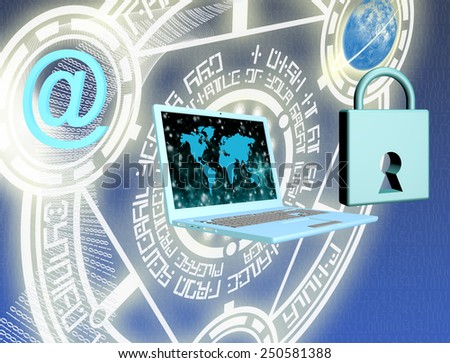 Safety computers technology.security internet - stock photo