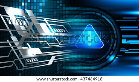 Safety concept: Closed Padlock on digital background, blue abstract light hi speed internet technology. Cyber security concept. Cyber background. Cyber data digital Technology