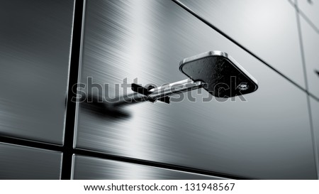 safety deposit boxes, 3d image
