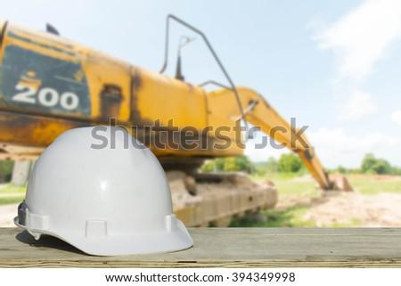 medium bridge construction site safety helmet on civil engineering working stock photo 384783202