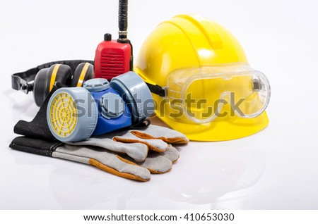 Safety equipment - stock photo