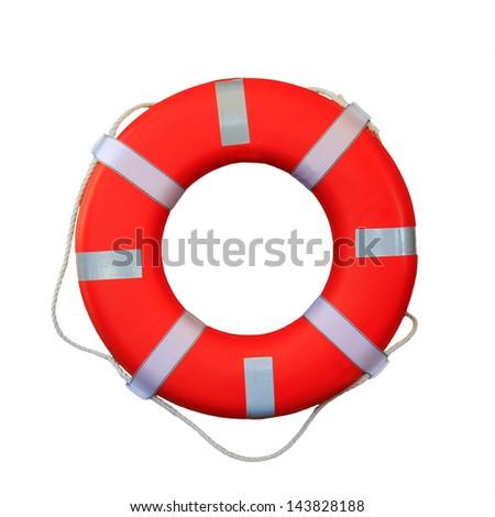 Safety equipment isolated on white background - stock photo