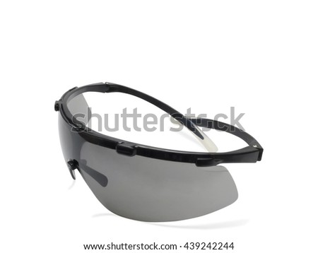 Safety glasses goggle isolated on white background - stock photo