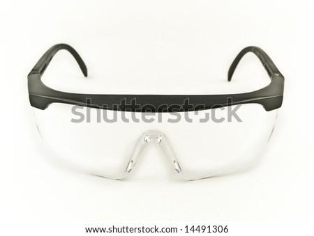 Safety Goggles on White Background - stock photo