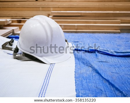 Safety helmet in Construction site