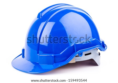 Safety helmet on isolated white background - stock photo