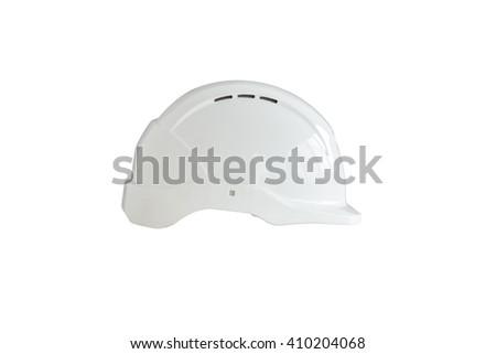 Safety helmet or hardhat isolated on white background - stock photo