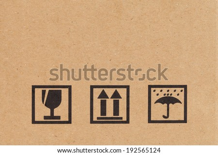 Safety icon on paper box background - stock photo