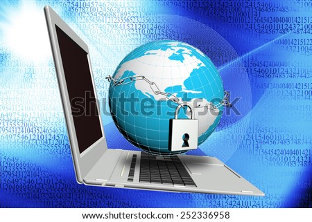 Safety Internet.Security connection.Concept - stock photo