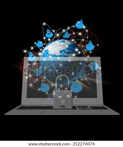 Safety Internet technology - stock photo