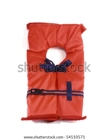 Safety Life vest or boating lifesaver - stock photo