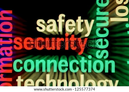 Safety security connection - stock photo