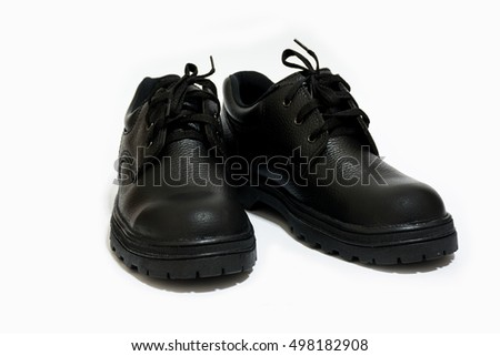 safety shoe black on white background