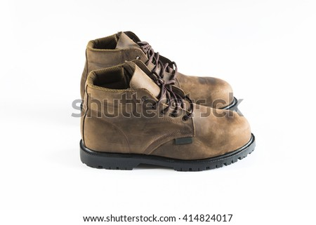 Safety shoes isolated on white background