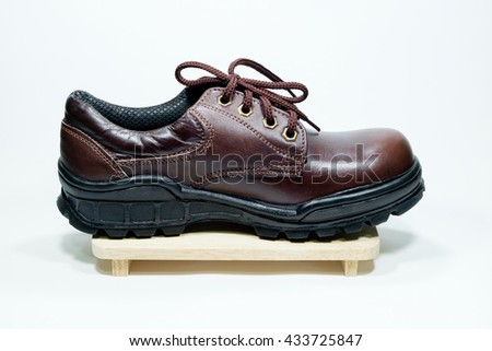 Safety shoes on white background