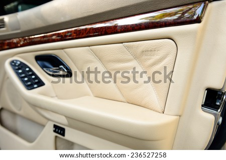 safety side door airbag in car - stock photo