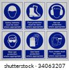 safety signs - stock vector