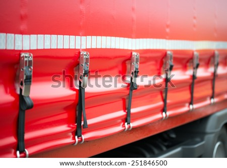 Safety Turnbuckle on a truck / Safety Turnbuckle - stock photo