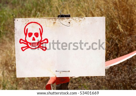 safety warning - stock photo