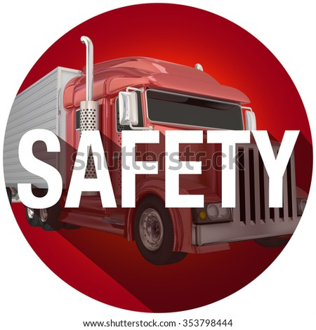 Safety word with long shadow to illustrate safe driving and secure, accident free transportation - stock photo