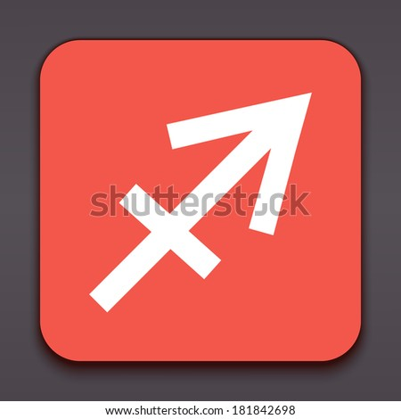 Sagittarius. Horoscope signs/symbols. Other signs are represented in the my portfolio. - stock photo