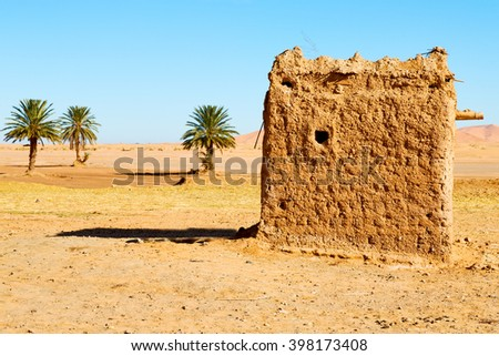 sahara africa in morocco the old   contruction and  historical village  - stock photo