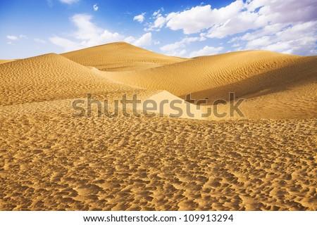 Sahara desert - Douz, Tunisia. - stock photo