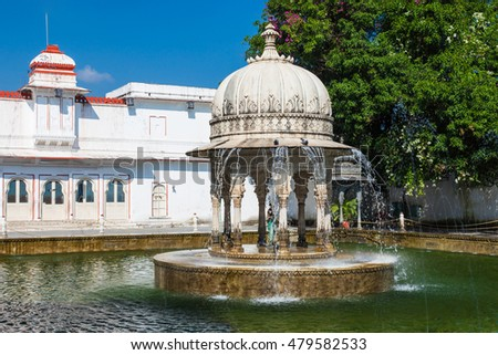 Saheliyon-ki-Bari (Courtyard of the Maidens) is a major garden in Udaipur, India