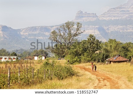 Sahyadhri mountains in Maharshtra India, families live as they have done for centuries, without power or running water. Recycling, living the land harvest and eco system everything is biodegradable.