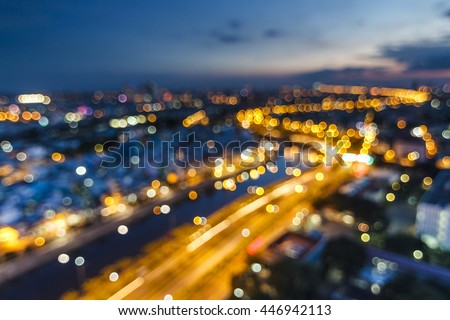 SAI GON, VIET NAM - JULY 01, 2016 - Blur lights from SAIGON, VIETNAM