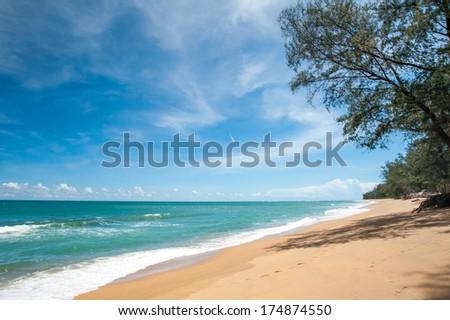 Sai Kaew Beach in Phuket,Thailand - stock photo