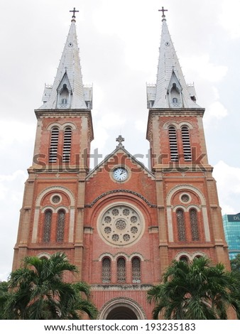 Saigon Cathedral in Ho Chi Minh City, Vietnam