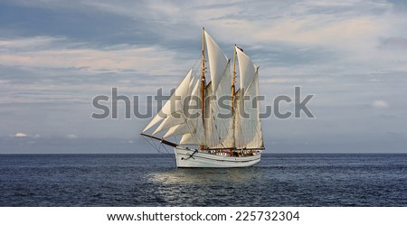 Sail Boat. Sailing ships Collection - stock photo