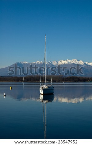 Sailboat at the lake
