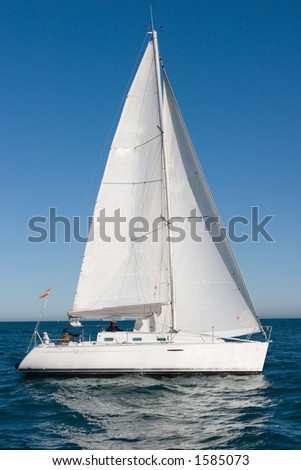 Sailboat in Castellon, Spain - stock photo