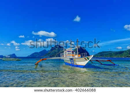 Sailboat in the Philippines. - stock photo
