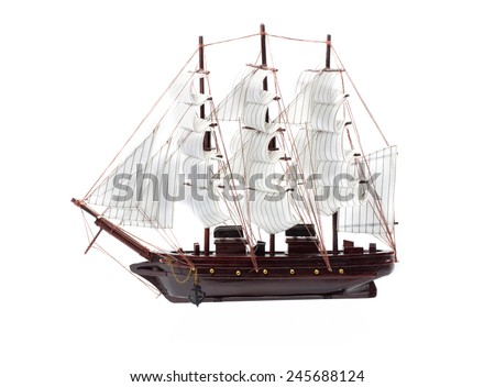 Sailboat isolated on white background