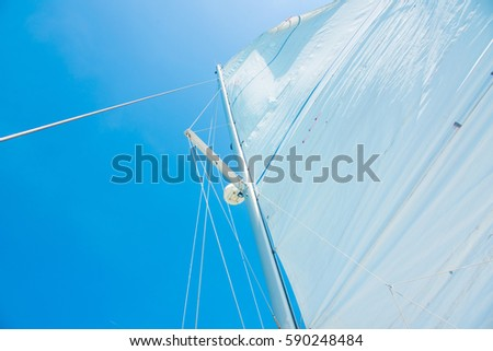 Sailboat on a sunny day