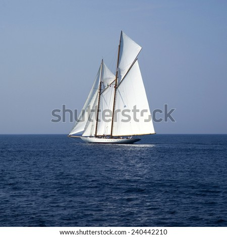 Sailboat on sea - stock photo